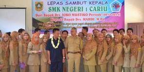 Serah Terima Jabatan Kepala SMKN 1 Cariu Kabupaten Bogro, Jawa Barat